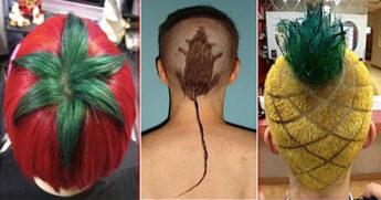 необычные причёски